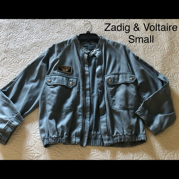 Zadig & Voltaire Jackets & Blazers - Zadig and Voltaire cotton bomber Sz small